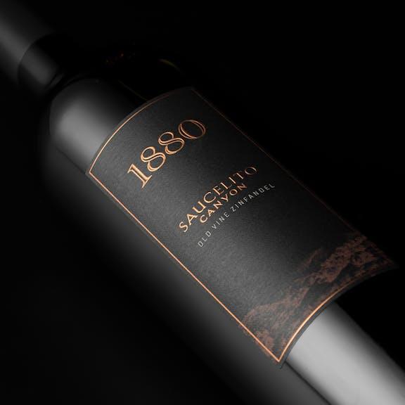1880 Wine Label Design