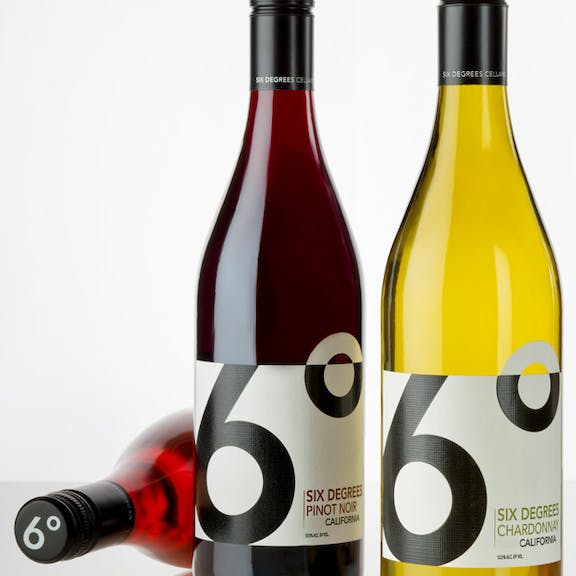 6 Degrees Wine Label Design