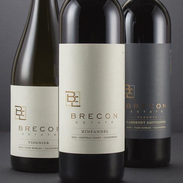 Brecon Estate Wine Label Design