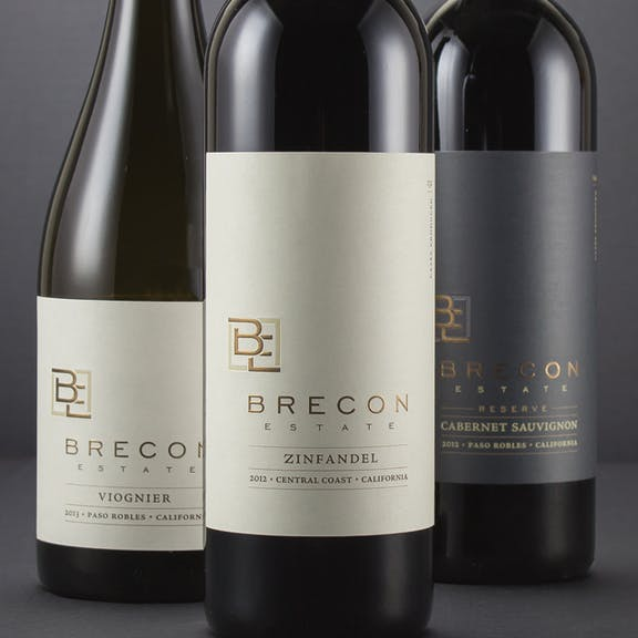 Brecon Estate Wine Label Design
