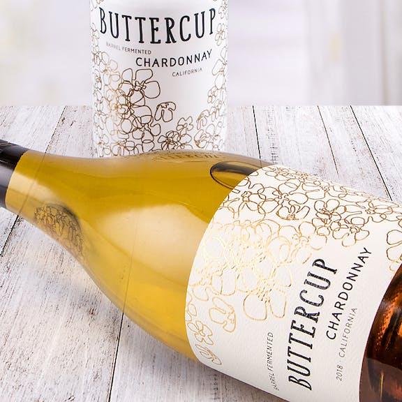 Buttercup Wine Label Design