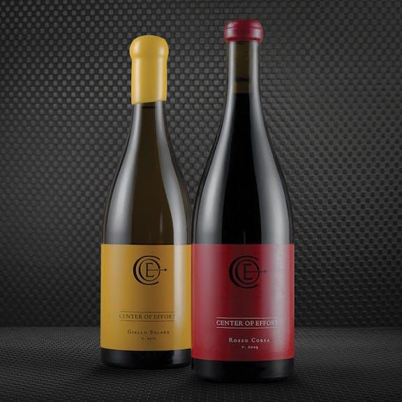 Center of Effort Wine Label Design