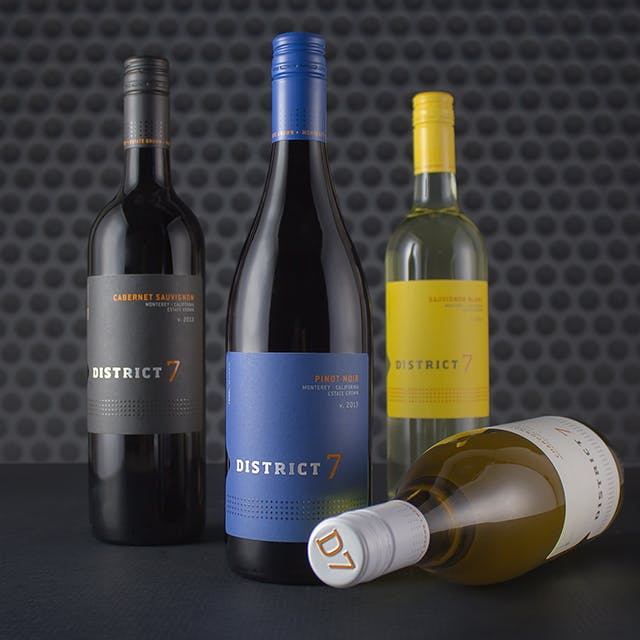 District 7 Wine Label Design