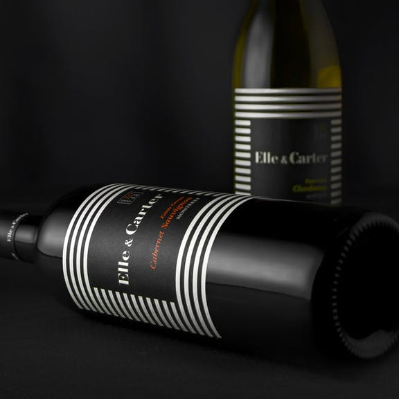 Elle & Carter Wine Label Design