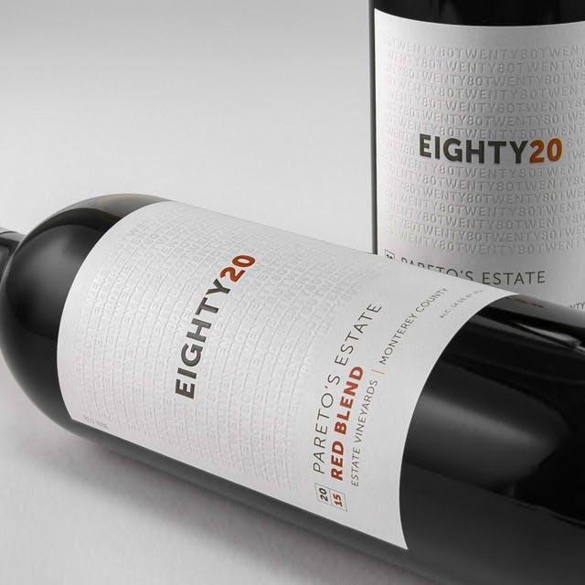 Eighty20 - Pareto's Estate Wine Label Design
