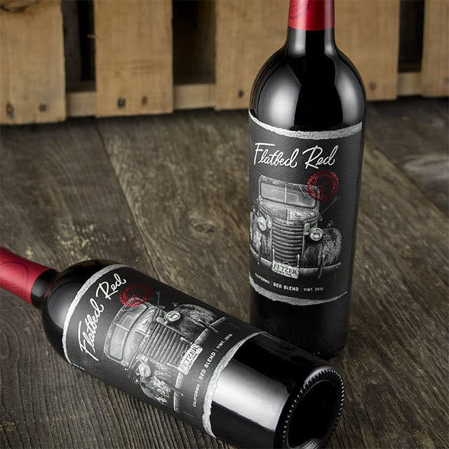 Flatbed Red (Fetzer) Wine Label Design