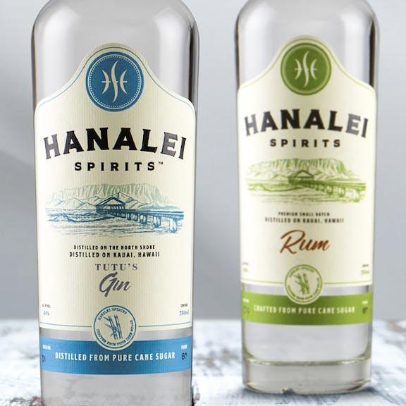 Hanalei Spirits Wine Label Design