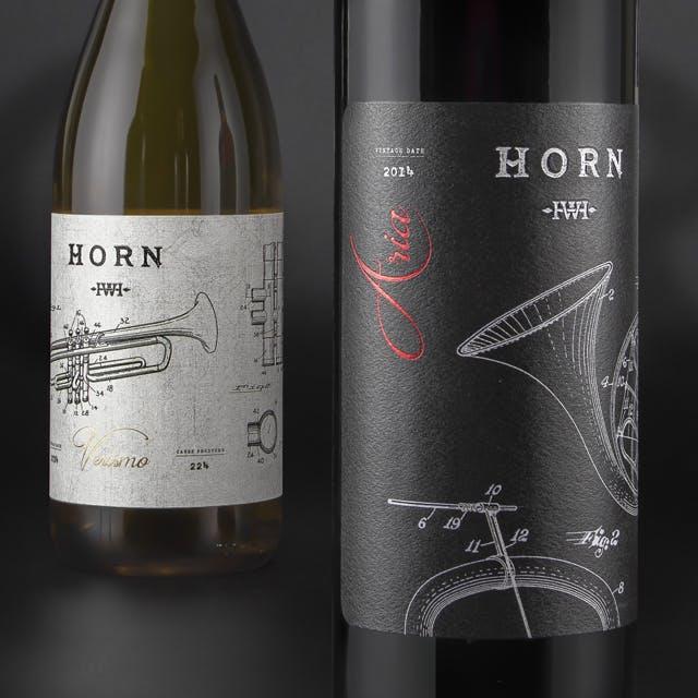 Horn Wine Label Design