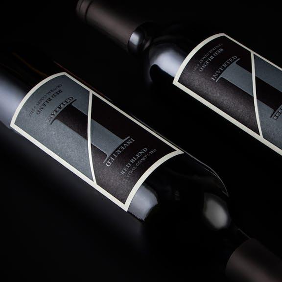 Inverted Wine Label Design