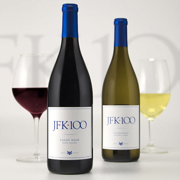 JFK 100 Wine Label Design