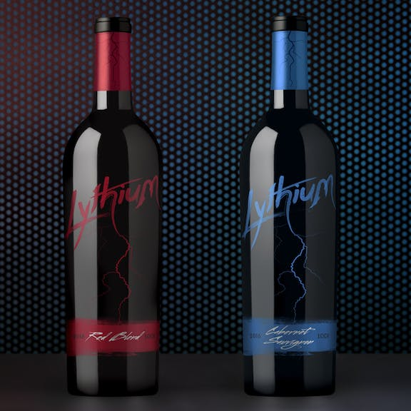 Lythium Wine Label Design