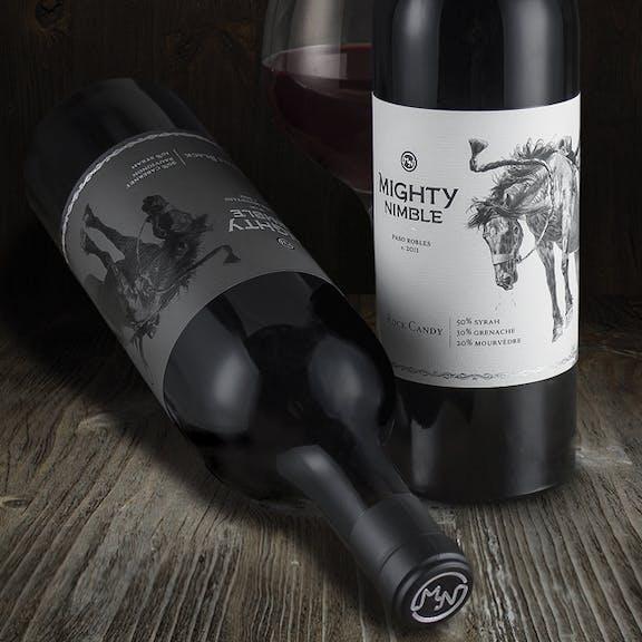 Mighty Nimble Wine Label Design