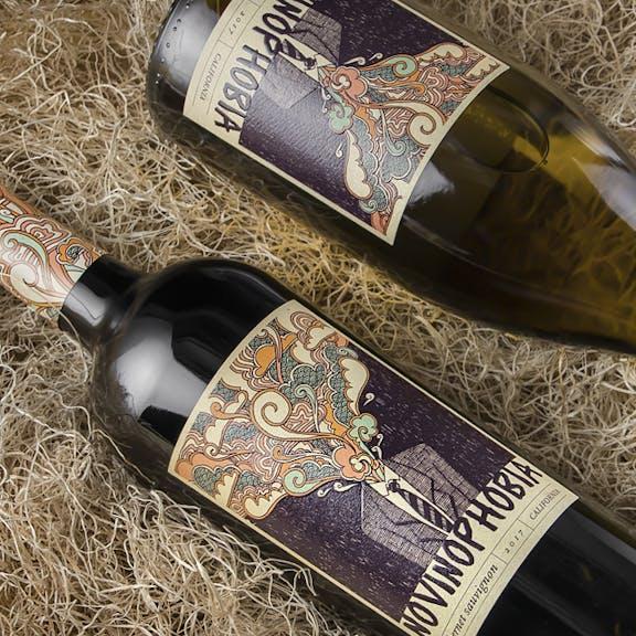 Novinophobia Wine Label Design