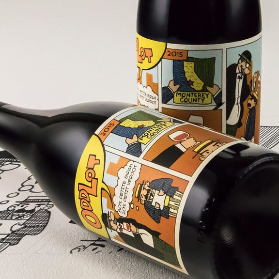 Odd Lot Wine Label Design