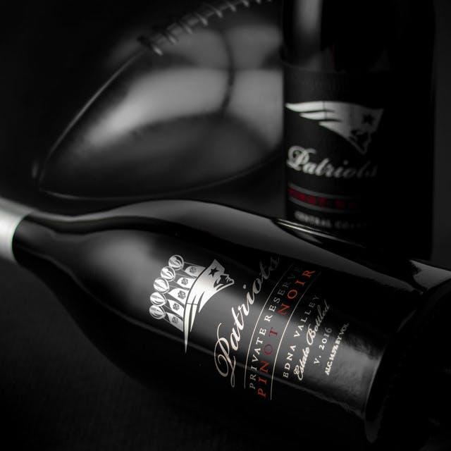 New England Patriots Wine Label Design