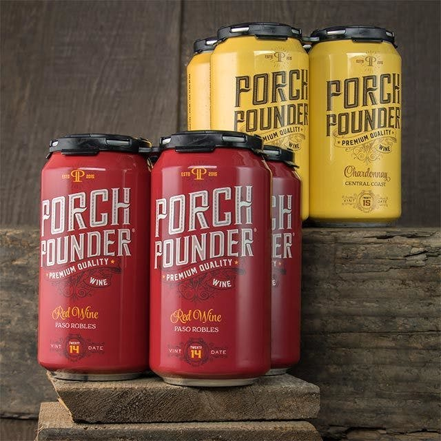 Porch Pounder Wine Label Design
