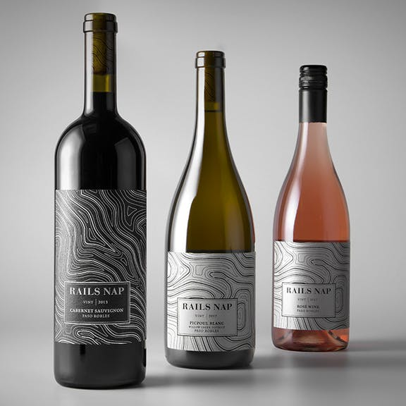 Rails Nap Wine Label Design