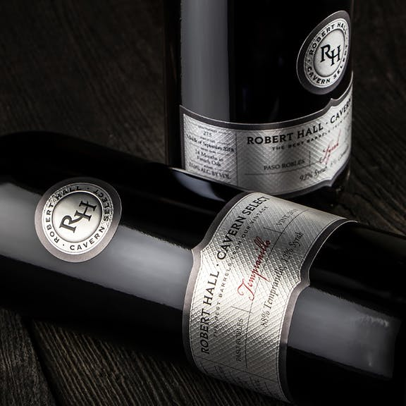 Robert Hall-Cavern Select Wine Label Design