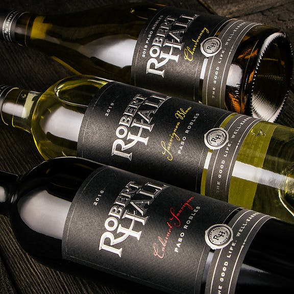 Robert Hall Wine Label Design