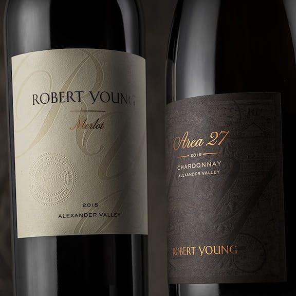 Robert Young Wine Label Design