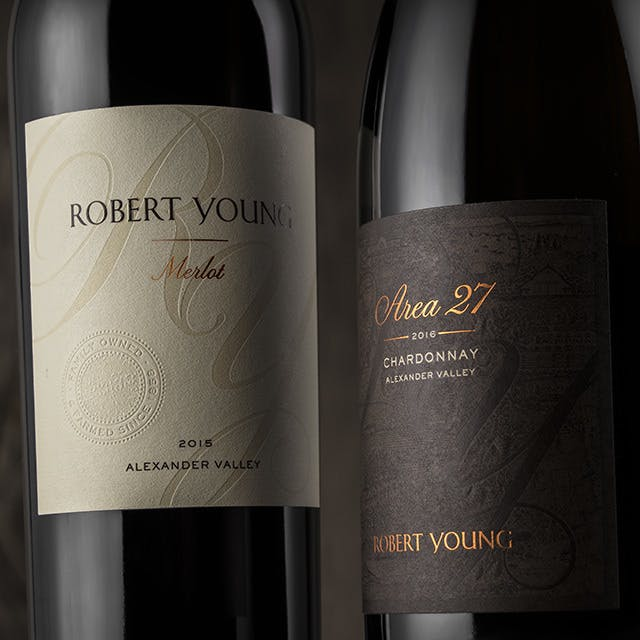 Robert Young Wine Label Design