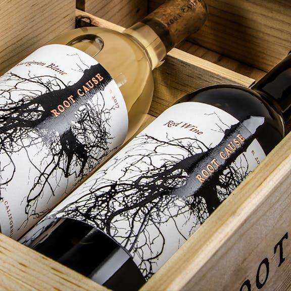 Root Cause Wine Label Design
