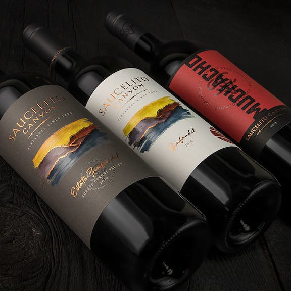 Saucelito Canyon Wine Label Design