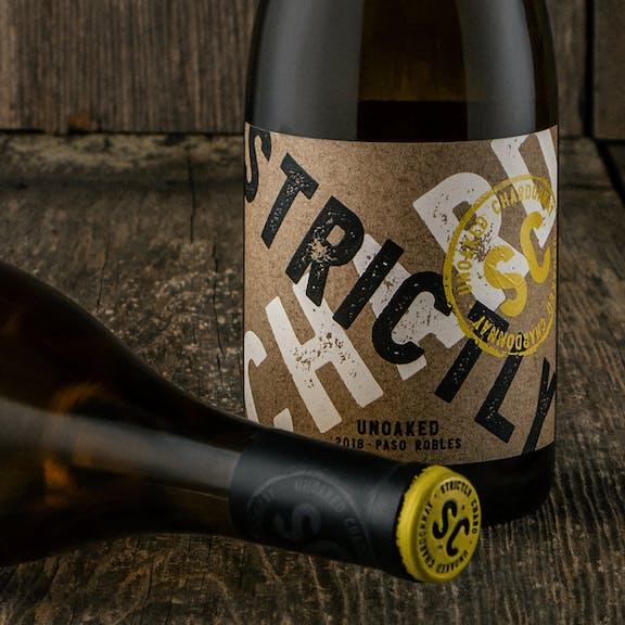 Strictly Chard Wine Label Design