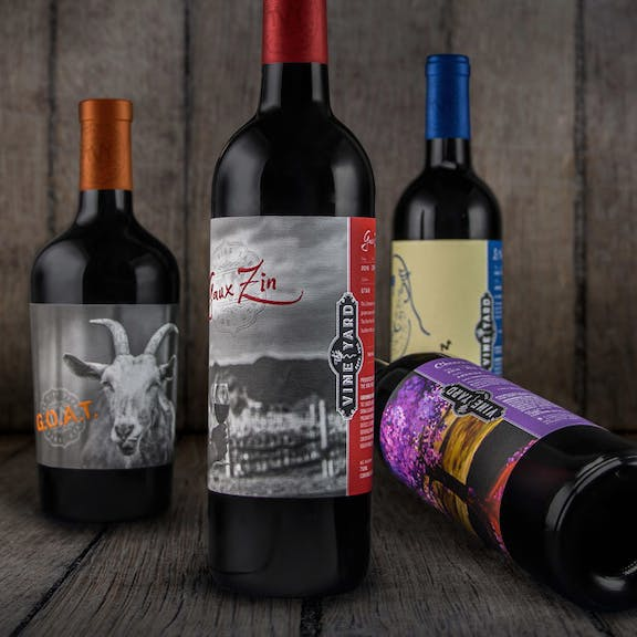 The Vine Yard Wine Label Design