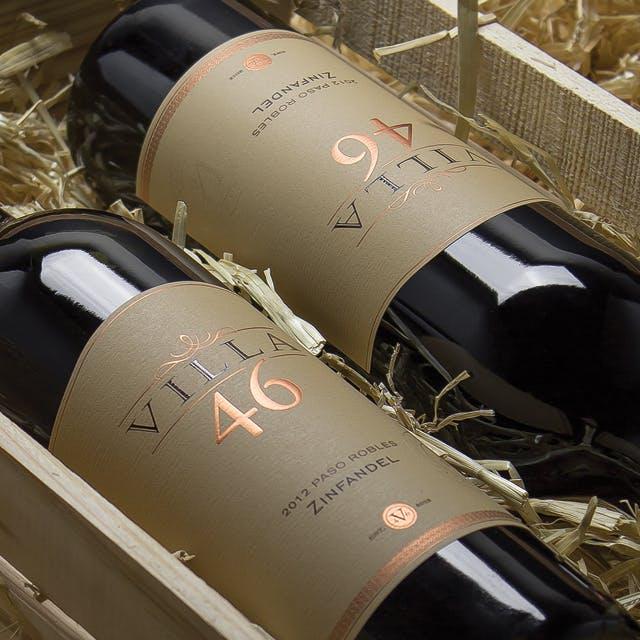 Villa 46 Wine Label Design