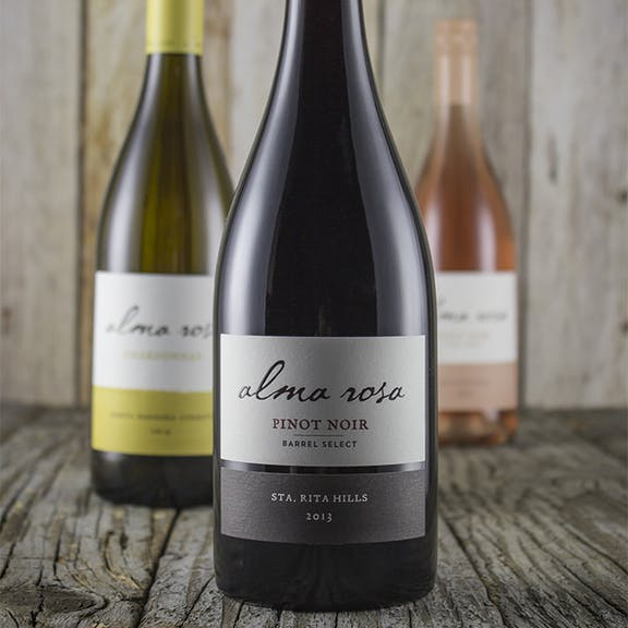 Alma Rosa Wine Label Design