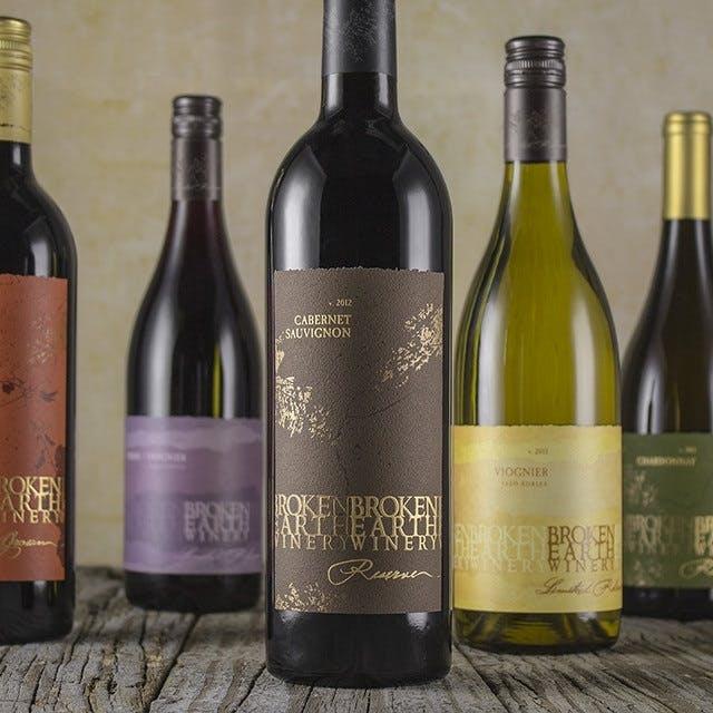 Broken Earth Wine Label Design