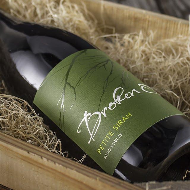 Broken Oak Wine Label Design