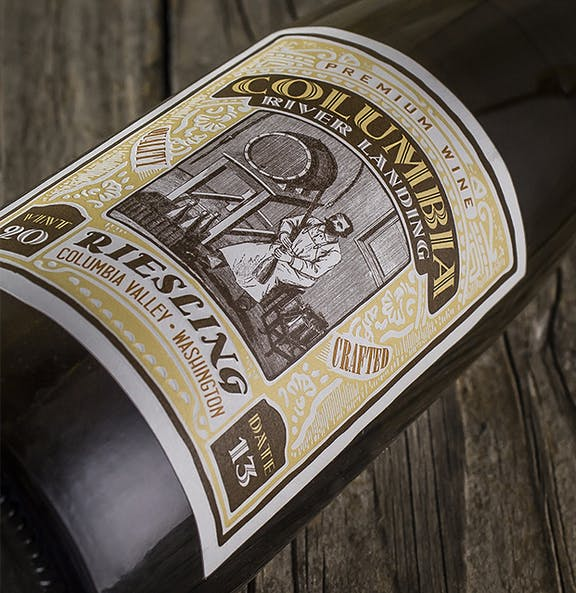 Columbia Valley Landing Wine Label Design