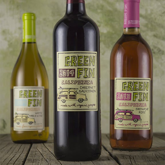 Green Fin Wine Label Design