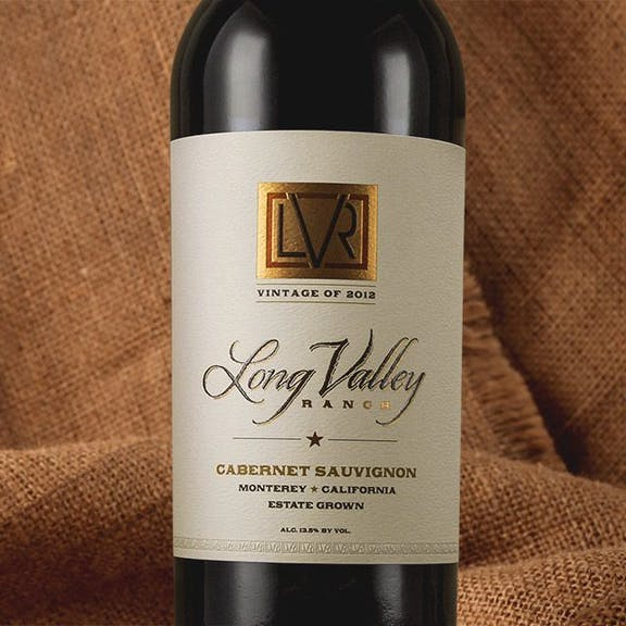 Long Valley Ranch Wine Label Design