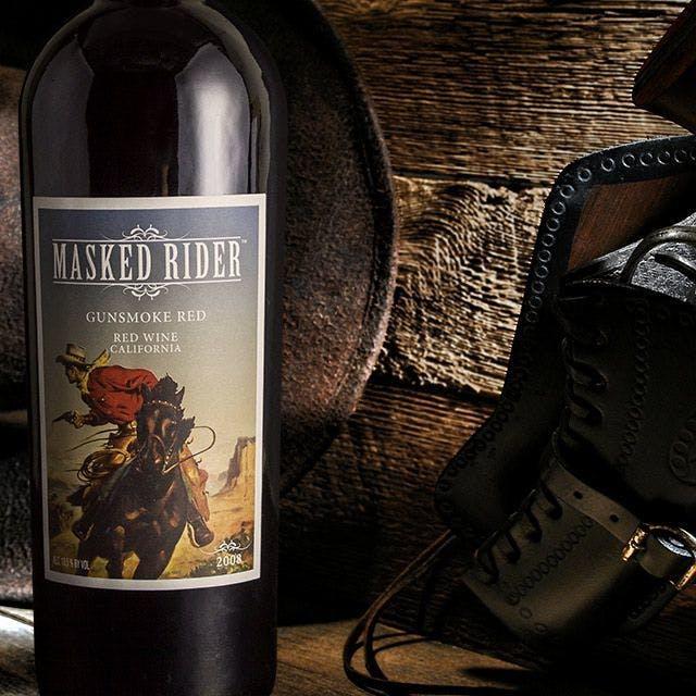 Masked Rider Wine Label Design