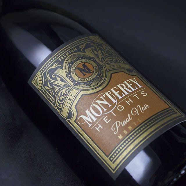 Monterey Heights Wine Label Design