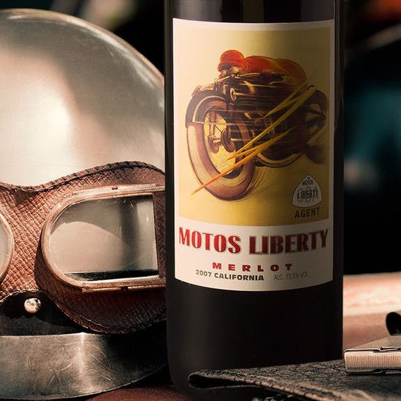 Motos Liberty Wine Label Design