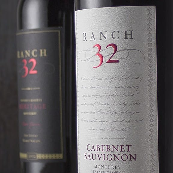 Ranch 32 Wine Label Design