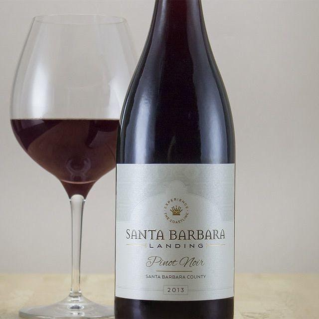 Santa Barbara Landing Wine Label Design