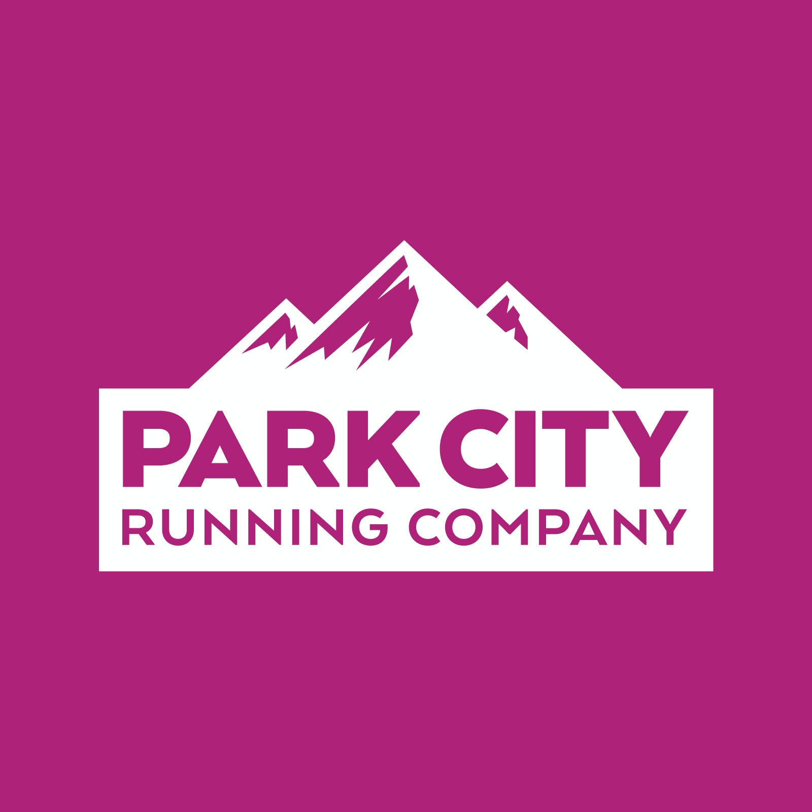 Park City Running Company Logo Brand Design