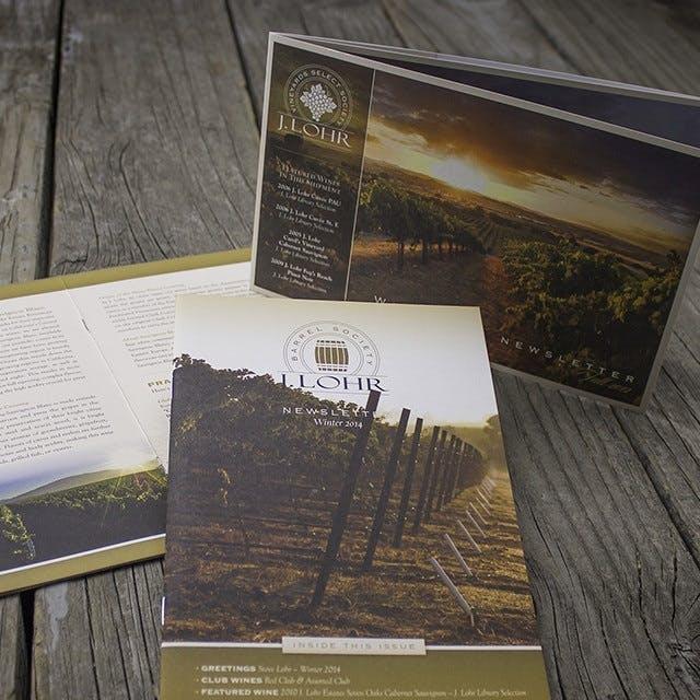 J. Lohr Newsletter Print Design